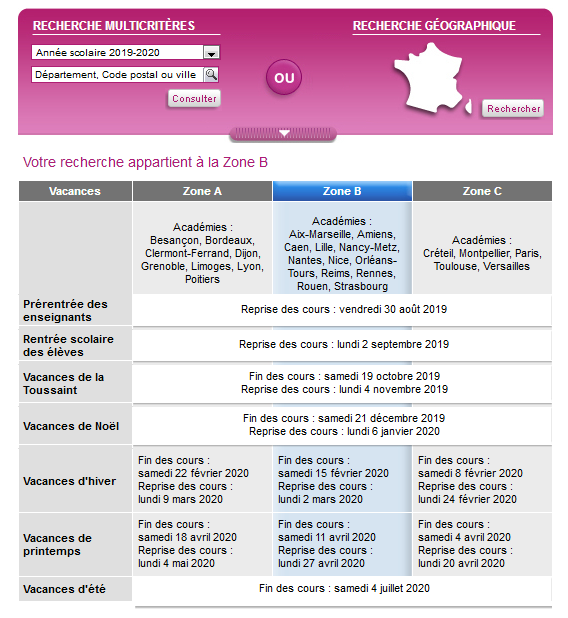 Calendrier Ramadan 2020 Caen.Calendrier Scolaire 2020 Paris Ecole Rentree Scolaire
